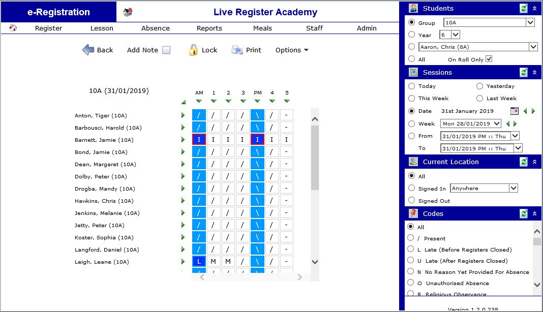 Live Register Suite | Capita SIMS