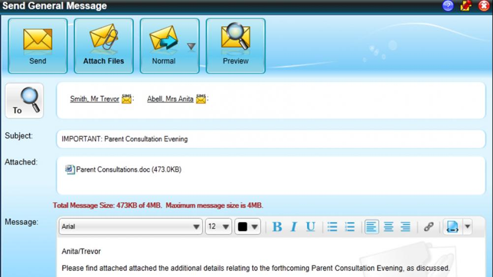 SIMS InTouch. Parent communication software, school communication solution, school messaging system