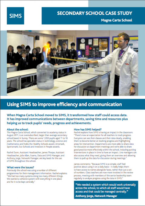 Using SIMS to improve efficiency and communication | Capita SIMS